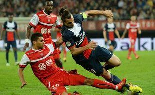 L'attaquant du PSGZlatan Ibrahimovic à Valenciennes, le 25 septembre 2013.