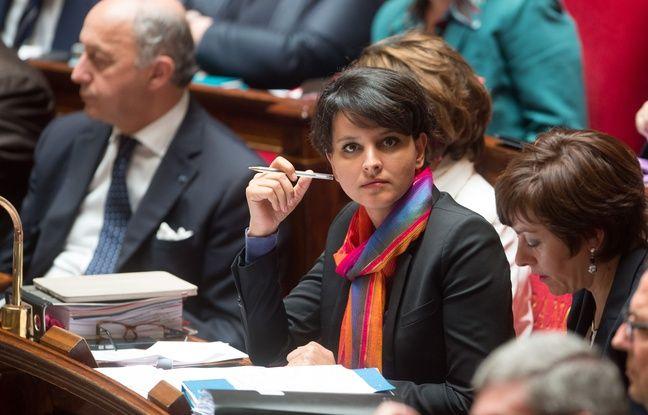 Najat Vallaud-Belkacem à l'Assemblée nationale, le 2 juin 2015.