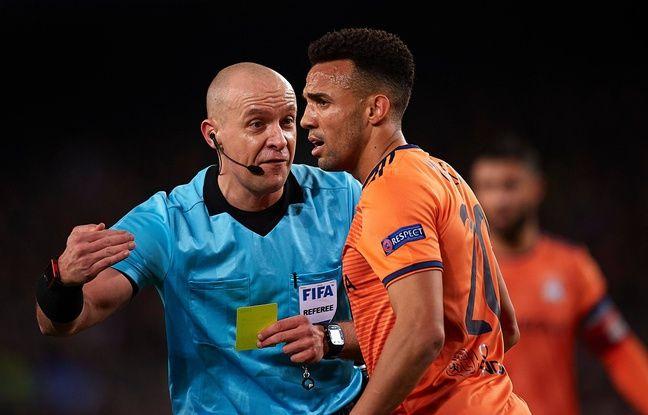 Fernando Marçal et les Lyonnais ont très moyennement apprécié l'arbitrage de Szymon Marciniak, mercredi au Camp Nou.