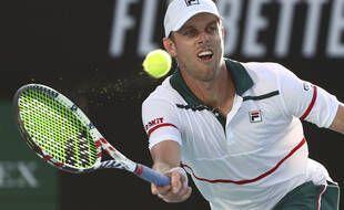 Sam Querrey lors de l'Open d'Australie, à Melbourne le 24 janvier 2020.