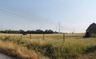 Le projet de ligne THT Avelin-Gavrelle.