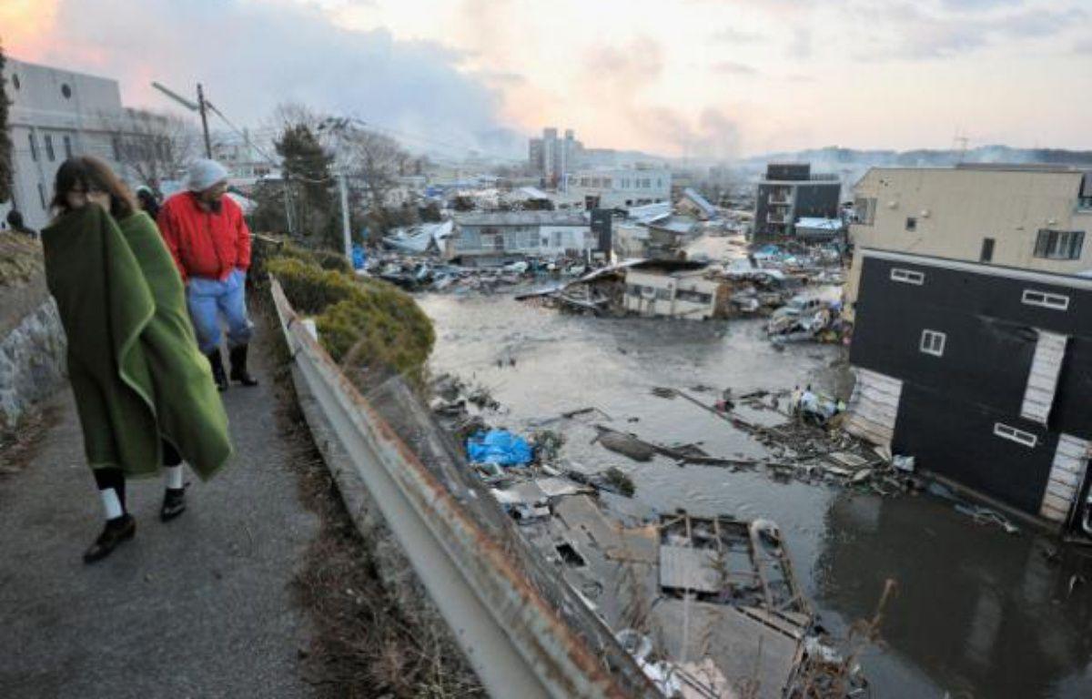 La ville côtière de Kesen Numa, au nord-est du Japon, le 12 mars 2011, au lendemain du tsunami qui a ravagé la région. – KYODO/REUTERS