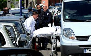 A Grenoble, le 25 avril 2016. Deux hommes de 22 et 27 ans ont été tués dans le quartier Teisseire lors d'une fusillade AFP PHOTO / JEAN-PIERRE CLATOT