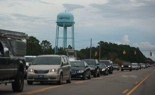 Les habitants de la côte de Caroline du Nord ont été obligés d'évacuer la zone.