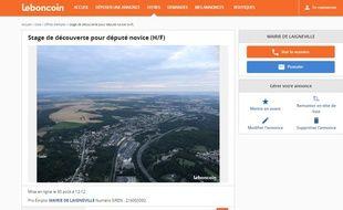 La petite annonce passée par le maire de Laigneville (Oise) qui offre aux députés novices un stage de découverte pour découvrir la réalité communale.