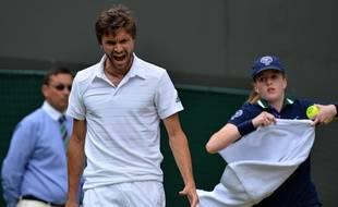 Gilles Simon à Wimbledon, le 8 juillet 2015.