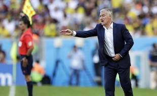 Didier Deschamps lors de France-Allemagne, le 4 juillet 2014, à Rio.