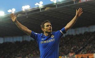 Frank Lampard, qui célèbre ici un triplé inscrit contre Stoke en janvier 2013, a décidé de quitter Chelsea.