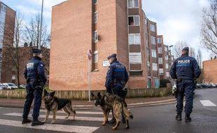 Des policiers le 29 janvier 2015 à Tourcoing