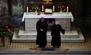 Une église protestante luthérienne de Berlin a célébré le culte dominical sur le thème de