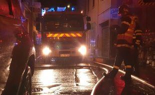 Les pompiers sont intervenus dans la nuit de dimanche à lundi