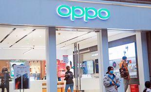 Une boutique de la marque de smartphones Oppo. (illustration)