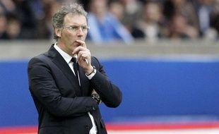 L'entraîneur de Paris, Laurent Blanc, après le titre du PSG, le 7 mai 2014.