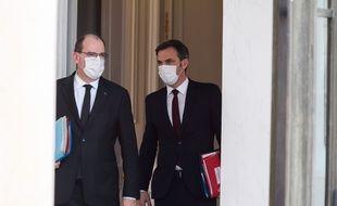 Jean Castex  et Olivier Veran le 03/03/2021.