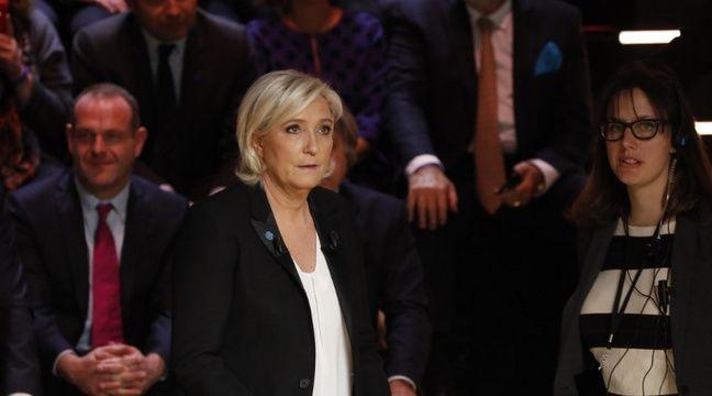 Marine Le Pen lors du premier débat télévisé sur TF1. – PATRICK KOVARIK