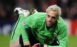 Le gardien d'Arsenal, Manuel Almunia, le 24 février 2009 à Rome.