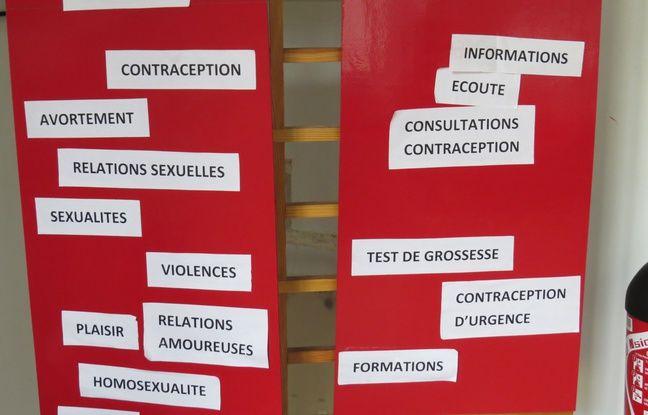 Un centre du Planning familial à Paris, rue Vivienne, le 3/3/15.