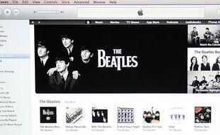 La plateforme d'Apple iTunes (illustration).