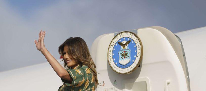 Melania Trump embarque à bord de son avion au Kenya, le 6 octobre 2018 (image d'illustration).