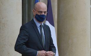 Jean-Michel Blanquer, ministre de l'Education nationale, le 13 janvier, sortant de l'Elysée.