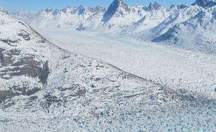 Illustration d'un glacier au Groenland.