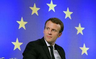 Emmanuel Macron, le 10 octobre 2017 à Francfort.