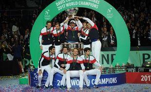 L'équipe de France a remporté sa dixième coupe Davis, le dimanche 26 novembre 2017