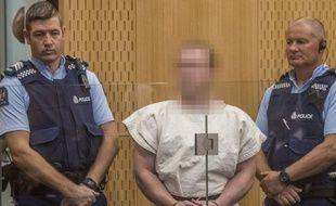 L'auteur présumé des attentats de Christchurch, Brenton Tarrant, a comparu au tribunal pour meutre le 16 mars 2019.
