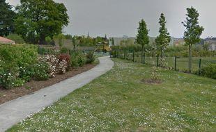 Le parc où s'est déroulé l'agression.