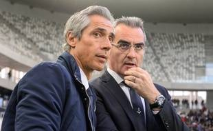 Paulo Sousa et Eduardo Macia en avril 2019.
