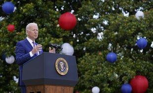 Le président américain Joe Biden lors de son discours pour la fête nationale américaine, à la Maison-Blanche le 4 juillet 2021.