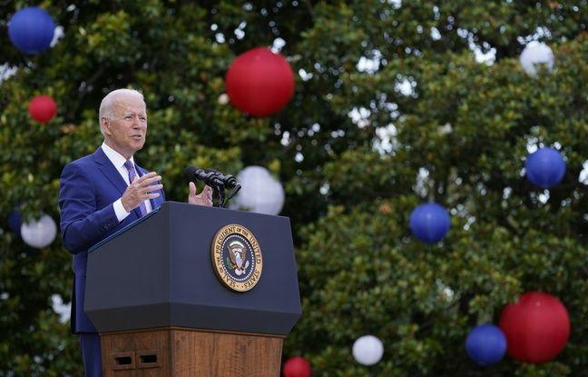 648x415 le president americain joe biden lors de son discours pour la fete nationale americaine a la maison
