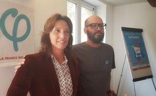 Sophie Camard et Mohamed Bensaada en octobre 2019