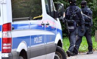 Jaber Abakr échappe de peu aux policiers allemand, le 8 octobre, à Chemnitz.