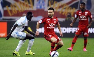 Mathieu Valbuena (au centre), le 20 septembre 2015, à Marseille.