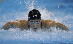Photo d'archives du 6 août 2016 montrant la nageuse américaine Dana Vollmer lors des JO de Rio de Janeiro, au Brésil.
