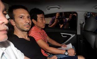 Philippe Graffart arrivant à son procès à Singapour le 7 octobre 2015.