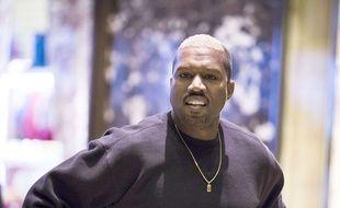 Kanye West juste avant sa rencontre avec Donald Trump le 13 décembre 2016