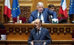 Le Premier ministre Edouard Philippe, devant les sénateurs le 4 mai 2020.