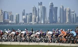 Le peloton sur le Tour du Qatar 2016, au mois de février