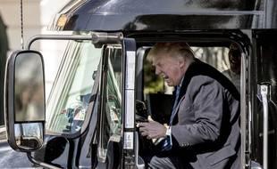 Donald Trump a visiblement passé un bon moment au volant du camion.