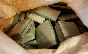 La marine française a saisie plus de 3,5 tonnes de résine de cannabis. (Illustration)