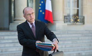 Bernard Cazeneuve à l'Elysée le 22 avril 2015.