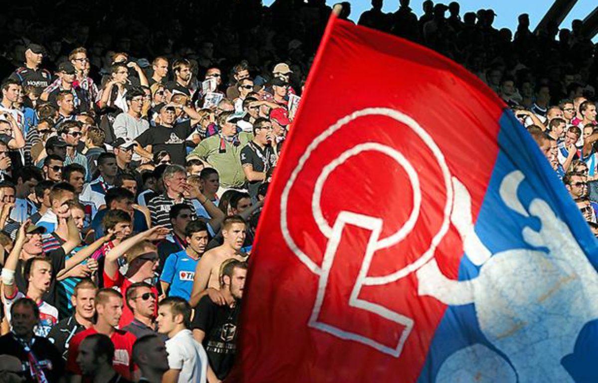 Lyon, le 16 septembre 2012. Des supporters lors du match OL/AJACCIO de ligue 1 au stade de Gerland. – C. VILLEMAIN / 20 Minutes