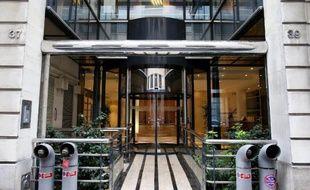 L'entrée de l'entreprise Ecomouv' à Paris, le 5 novembre 2013