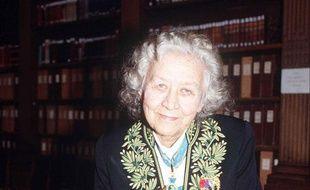 Jacqueline de Romilly, en 1989, lors de son entrée à l'Académie française.