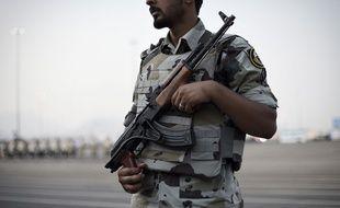 Un membre des unités spéciales de la police à la Mecque en Arabie saoudite, le 17 septembre 2015.
