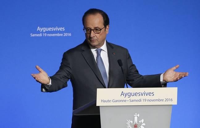 François Hollande à Ayguesvives (Haute-Garonne), le 19 novembre 2016.