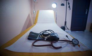 Le 09 septembre 2011. Illustration d'une consultation chez un medecin generaliste en Essonne .  /// V. WARTNER / 20 MINUTES
