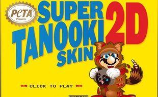 Le site de Peta accuse Super Mario de porter de la fourrure de racoon.
